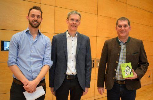 Organisator Martin Ritter, Direktor Roland Beer und HPV-Obmann Richard Bilgeri.