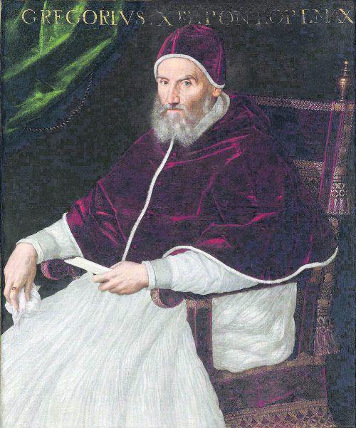 Papst Gregor XIII. (1502-1585) in einer Abbildung der italienischen Malerin Lavinia Fontana.