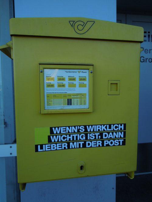 Pensionen werden weiterhin vom Post-Mitarbeiter übergeben.