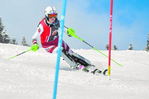 Pia Lingg verpasste beim zweiten Torlaufbewerb in Lech einen Stockerlplatz nur um eine Hundertstelsekunde.Lerch