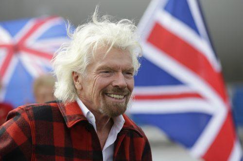 Richard Branson schaffte es mit seinem Scherz, die Engländer zu verwirren. AP