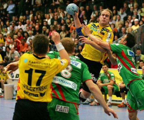 Roland Schlinger (Bild) und Co. boten gegen Magdeburg eine Weltklasse-Leistung.VN