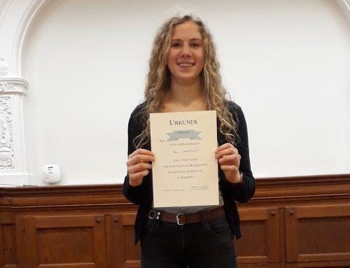 Rosa Lanzdorf (BORG Egg) siegte in der Kategorie vierjähriges Latein.ME