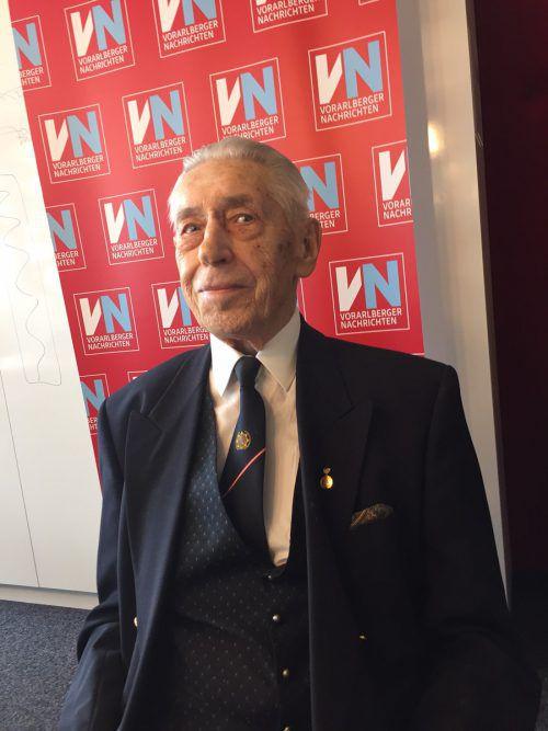 Rudolf Doppelhofer heute: Der heute 92-Jährige darf stolz auf eine lange Gendarmerie-Karriere in Vorarlberg zurückblicken. VN/sohm