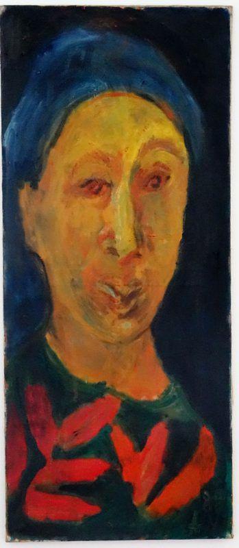 Selbstporträt von Alexandra Wacker aus dem Jahr 1997.