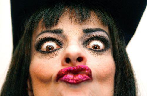 """So kennt man Nina Hagen, die """"Godmother of Punk"""", inklusive der obligatorischen Gesichtsakrobatik. APA"""