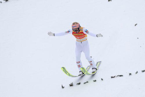 Stefan Kraft setzte zum zweiten Mal die Maßstäbe im Weltcup-Skispringen. gepa