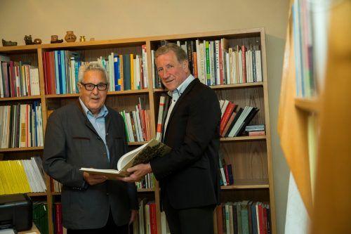 Stehen zu Diensten: Gottfried Feurstein und Erich Schwärzler.