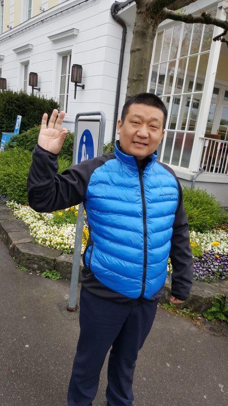 Unternehmer Bing in Wuhan kann wieder lächeln.