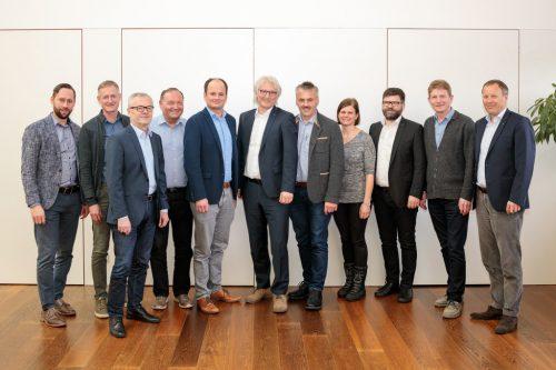 Vertreter der Mitglieder trafen sich zur Neugründung des Trinkwasserverbandes in Egg.VLK/M. Nester