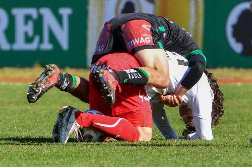 Wacker Innsbruck hatte den FC Dornbirn immer fest im Griff und fügte den Rothosen eine bittere 0:4-Heimpleite zu. gepa