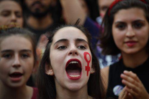 Weltweit gehen Frauen zum Weltfrauentag am 8. März auf die Straße, um für mehr Gleichberechtigung zu kämpfen.AFP