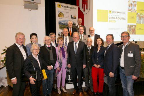 Werner Huber wurde wieder zum Landesobmann beim 14. ordentlichen Landestag 2020 gewählt.vorarlberger seniorenbund