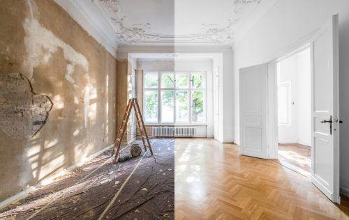 Aus Alt mach Neu – eine Sanierung muss gut durchgeplant sein. Shutterstock