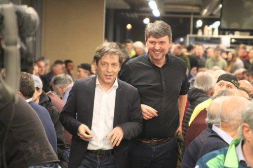 Lustenaus Bürgermeister Kurt Fischer (r.) und Austria-Vorstandssprecher Bernd Bösch anlässlich dessen Wahl im Februar 2019.Rauch