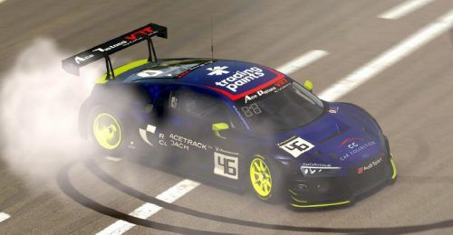 Beim virtuellen Rennen am Nürburgring . . .