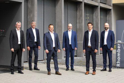 Das neue Führungsteam Matthias Moosbrugger, Martin Summer, Gerhard Vonbank, Jürgen Jussel, Tobias Vonach und Rupert Grienberger (v.l.). Walser Image