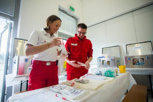 Das Rote Kreuz ist in der Coronakrise besonders gefordert. Auch in Röthis.