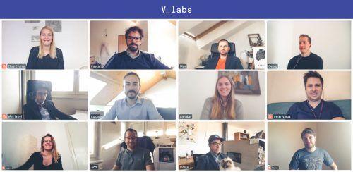 Das V_labs-Team im neuen Alltag. Die meisten Projekte gehen derzeit normal weiter. V_LABS
