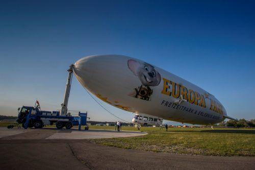 """Der """"Zeppelin NT"""" kommt in den polizeilichen Einsatz. VN/paulitsch"""