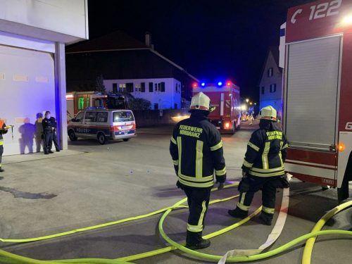 Etwa hundert Feuerwehrmänner waren im Einsatz. Vlach
