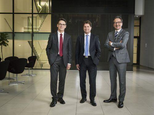 Hypo-Vorstand: Wilfried Amann, Michel Haller und Johannes Hefel. fasching