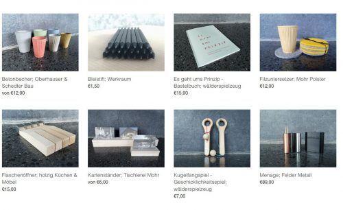 Im Onlineshop des Werkraum Bregenzerwald können Produkte verschiedener Handwerksbetriebe bestellt werden. werkraum