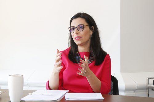 Liechtensteins Innenministerin Dominique Hasler. P. Trummer