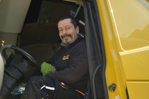 Marko Uhle ist bereits seit 24 Jahren Lkw-Fahrer.