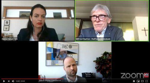 Wilfried Hopfner und Marco Tittler im Gespräch mit Hanna Reiner (VN).