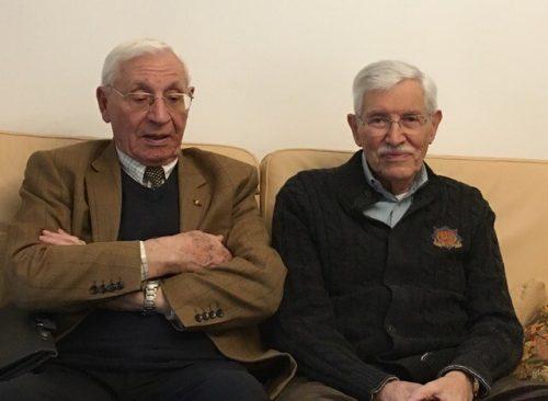 Zeitzeugen und ehem. französische Soldaten Herbert Traube und René Asso. verein