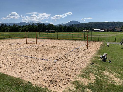 Ab Freitag kann in Feldkirch auch wieder Beachvolleyball gespielt werden. Stadt