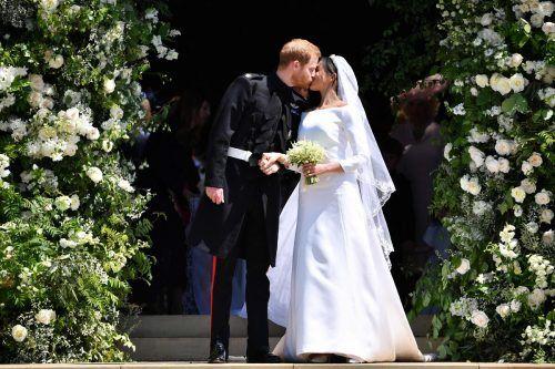 Als Harry und Meghan am 19. Mai 2018 heirateten, sah alles nach einem modernen Märchen aus. AFP
