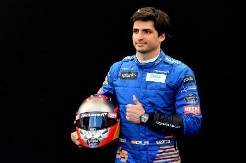 Carlos Sainz wird bei Ferrari Charles Leclerc unterstützen.epa