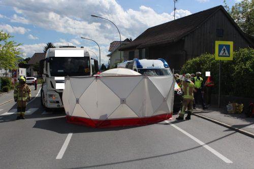 Das Unglück passierte gegen 14.45 Uhr auf der Reichsstraße. FW Lustenau