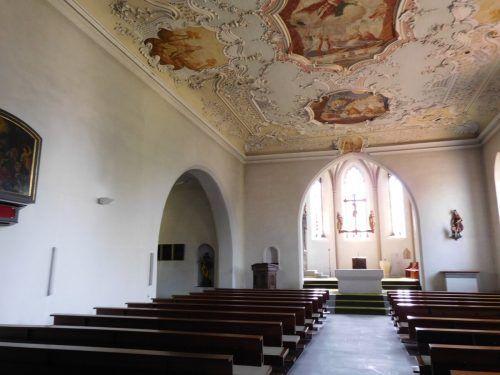 Erst im Vorjahr wurden im Innenraum der Kirche Restaurierungs- und Adaptierungsarbeiten vorgenommen. Beispielsweie wurden die Wände und die Decke trocken gereinigt.
