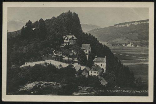 Der Margarethenkapf samt Schlösschen und Kapelle.