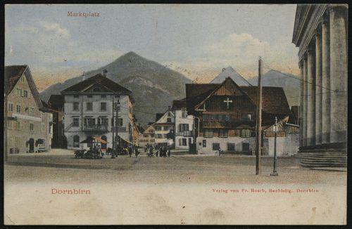 Der Marktplatz, wie er etwa zur Zeit der Stadterhebung aussah.