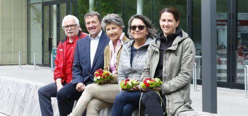 Der Vorstand: Ferdinand Armellini, Cornelia Michalke, Gabriele Amann, Hubert Häusler und Alexandra Amann.Köss