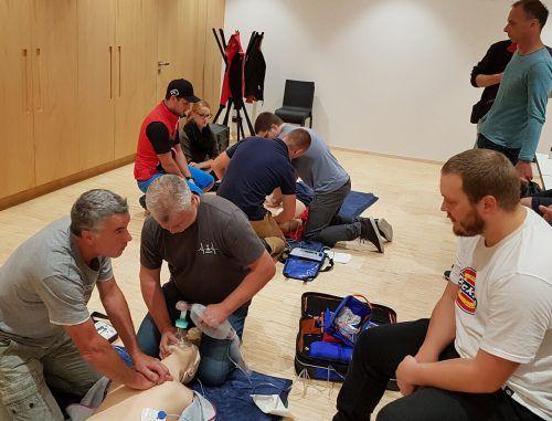 Die Hohenemser Bergretter investierten im vergangenen Jahr wieder viel Zeit in Schulung und Ausbildung.tf