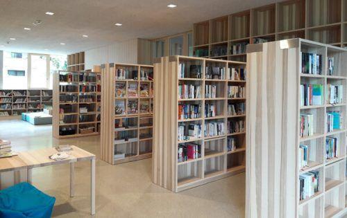 Die neue Bibliothek im Bildungscampus Nüziders öffnet ihre Pforten. bibliothek