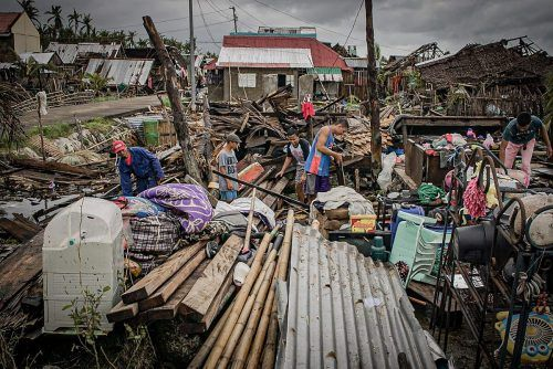 Die Philippinen werden jedes Jahr von zahlreichen Taifunen heimgesucht. afp