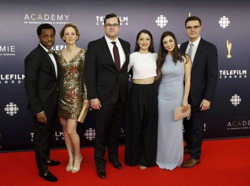 Die Schauspieler von Orphan Black bei den Canadian Screen Awards in Toronto. Reuters
