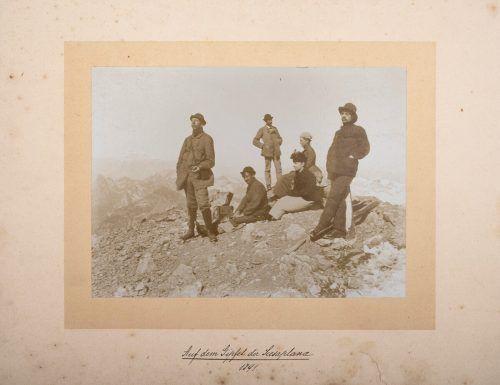 Diese Schesaplana-Besteigung fand 1891 statt. Vlbg. Privatsammlung, Sabo