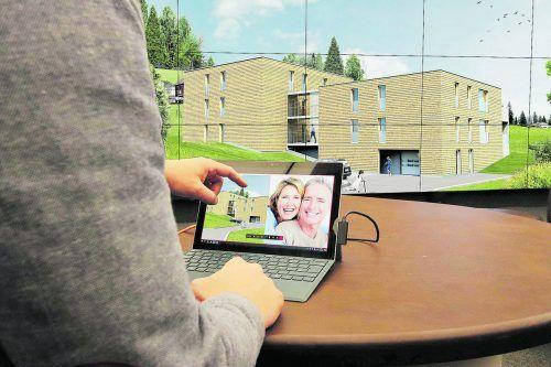 Egal ob vor Ort im Terminal V oder gemütlich von Zuhause aus - eine virtuelle Vorabbesichtigung der neuen Wohnung ist ein Erlebnis.Hefel Wohnbau