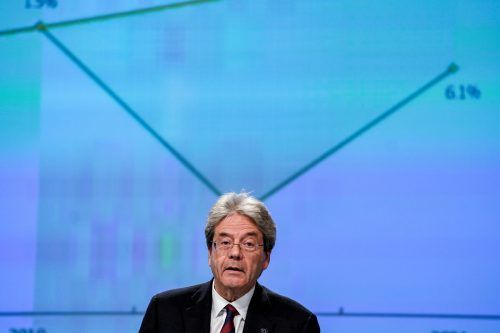 """""""Europa erlebt einen wirtschaftlichen Schock"""", sagt Kommissar Gentiloni.RTS"""