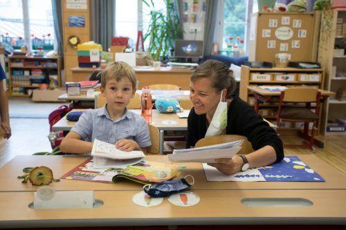 Schüler können auch in Zeiten der offiziellen Schulschließung mit ihren Lehrpersonen zusammenkommen. VN/Paulitsch