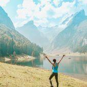 Johanna Helbock (bloggt als die Gsibergerin, 28) aus Koblach. Seealpsee, Schweiz