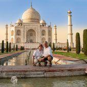 Guido und Rosmarie Loacker (beide 75) aus Dornbirn. Taj Mahal in Agra, Indien