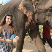 Larissa Brunner (20) aus Fußach. Surin, Thailand